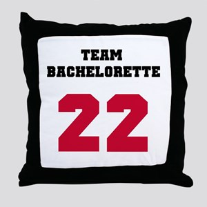 Team Bachelorette 17 Red Throw Pillow