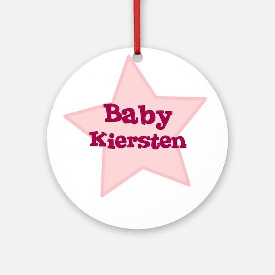 Baby Kiersten Ornament (Round)