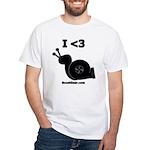 I <3 Turbo Snail - White T-Shirt