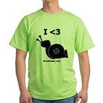 I <3 Turbo Snail - Green T-Shirt