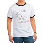 I <3 Turbo Snail - Ringer T - Pencil Logo