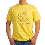 I <3 Turbo Snail - Yellow T-Shirt - Pencil Logo