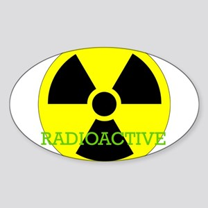 Radioactive Oval Sticker