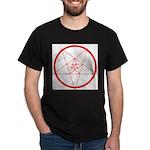b402.red pentagrams Black T-Shirt