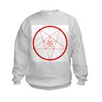 b402.red pentagrams Kids Sweatshirt