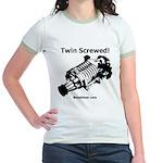 Twin Screwed! - Supercharger - Jr. Ringer T-Shirt