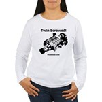 Twin Screwed! - Women's Long Sleeve T-Shirt