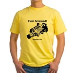 Twin Screwed! - Supercharger - Yellow T-Shirt