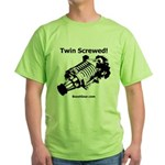 Twin Screwed! - Supercharger - Green T-Shirt