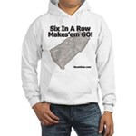 Six In A Row - Makes'em GO! - Hooded Sweatshirt