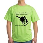 I love the smell of race gas - Green T-Shirt