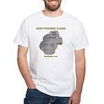 KEEP FINGERS CLEAR - White T-Shirt