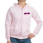 BoostGear Pink Checkered Flag - Women's Zip Hoodie