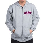 BoostGear.com Pink Checkered Flags Zip Hoodie