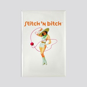 Official STITCH 'N BITCHT Rectangle Magnet