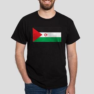 Western Sahara Flag Black T-Shirt