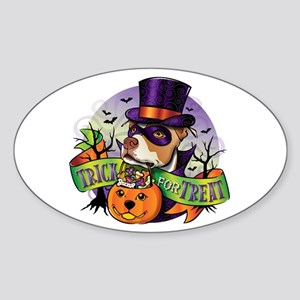 Trick for Treat Oval Sticker