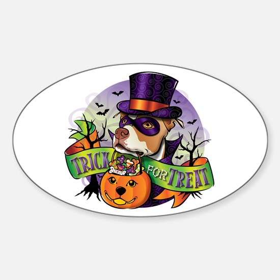 Trick for Treat Oval Decal