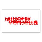 Butterfly Vendetta Rectangle Sticker (10 Pk)