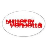 Butterfly Vendetta Oval Sticker (10 Pk)