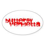 Butterfly Vendetta Oval Sticker (10 Pk)