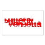 Butterfly Vendetta Rectangle Sticker