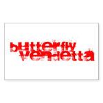 Butterfly Vendetta Rectangle Sticker