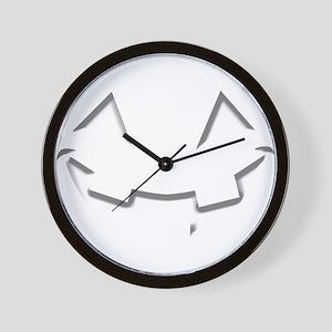 Smiley Halloween White wn Wall Clock