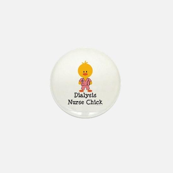 Dialysis Nurse Chick Mini Button