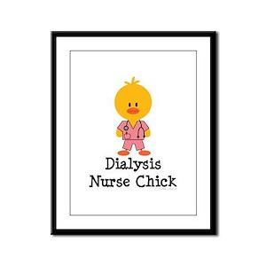 Dialysis Nurse Chick Framed Panel Print