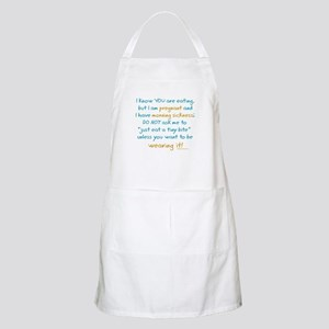 Morning sickness warning, funny BBQ Apron