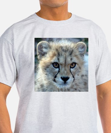 Cheetah Cub Ash Grey T-Shirt