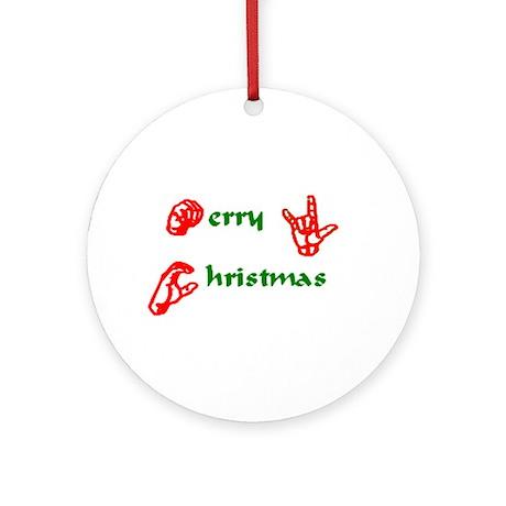 ASL Christmas Ornament