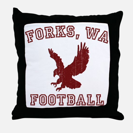 Forks Football Throw Pillow