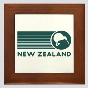 New Zealand Kiwi Stripes Framed Tile
