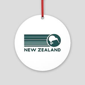 New Zealand Kiwi Stripes Ornament (Round)