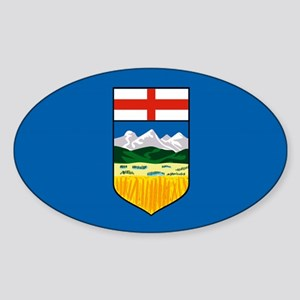 Alberta Canada Flag Oval Sticker