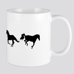 WalkTrotGallopBuck row black Mugs
