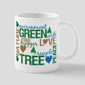 Live Green Montage Mug