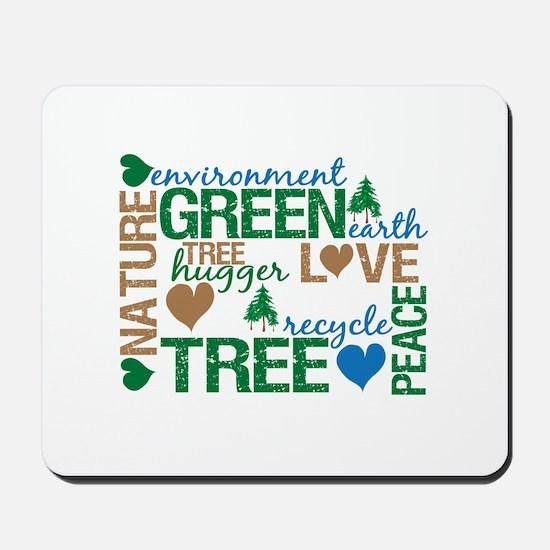 Live Green Montage Mousepad