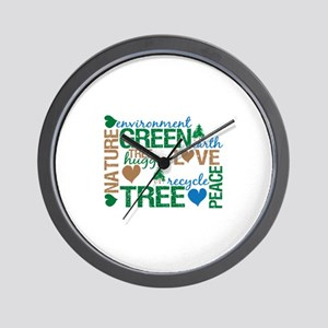 Live Green Montage Wall Clock