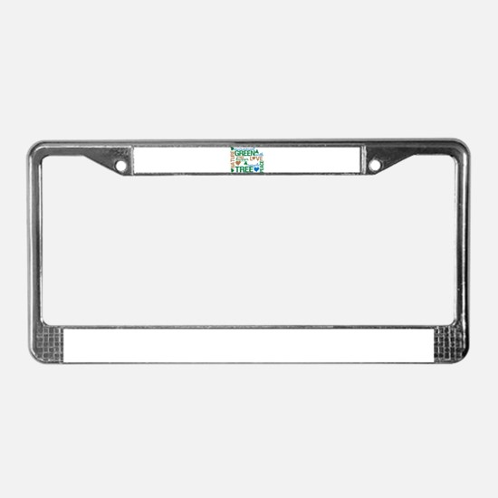 Live Green Montage License Plate Frame