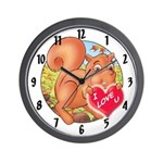 "Skippy's ""I LOVE U"" Wall Clock"