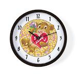 """Bailey's """"I LOVE U"""" Wall Clock"""