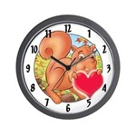 "Skippy's ""heart"" Wall Clock"