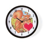 """Skippy's """"heart"""" Wall Clock"""