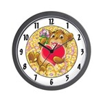 "Bailey's ""heart"" Wall Clock"