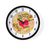 "Bailey's ""heart"" Wall Clock"
