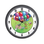 "Cuddle Bunch: ""party"" Wall Clock"