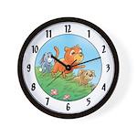 Cuddle Bunch Wall Clock